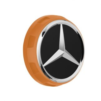 AMG Radnabendeckel orange, Zentralverschlussdesign
