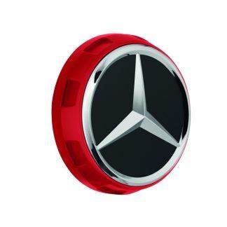 AMG Radnabenabdeckung rot, Zentralverschlussdesign