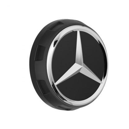 AMG Radnabendeckel schwarz matt, Zentralverschlussdesign
