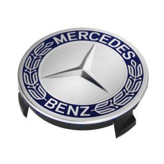 Mercedes-Benz Radnabenabdeckung blau, Stern mit Lorbeerkranz
