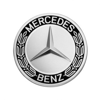 Mercedes-Benz Radnabendeckel schwarz, Stern mit Lorbeerkranz