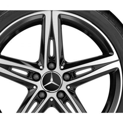 Mercedes-Benz 5-Speichen-Felge, glanzgedreht, C118, W177, W247, 18 Zoll