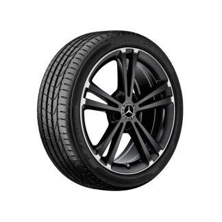 Mercedes-Benz 5-Doppelspeichen-Felge, Felgenhorn glanzgedreht, C118, W177, W247, 18 Zoll