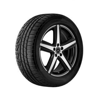 Mercedes-Benz 5-Speichen-Felge, glanzgedreht, C118, W177, W247, 19 Zoll