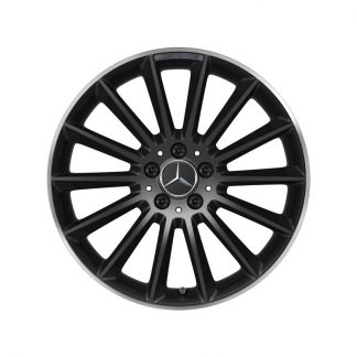 AMG Vielspeichen-Felge, schwarz, glanzgedreht, C118, W177, W247, 19 Zoll