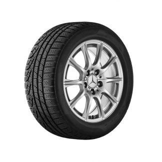 Mercedes-Benz Winter Kompletträder Satz, 10-Speichen-Design, vanadiumsilber, C-Klasse, 16 Zoll