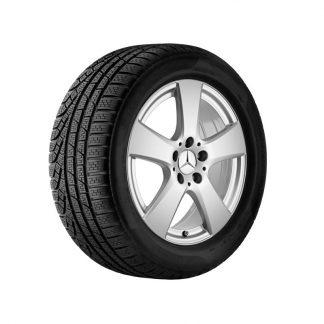 Mercedes-Benz Winter Kompletträder Satz, 5-Speichen-Design, vanadiumsilber metallic, C-Klasse, 17 Zoll