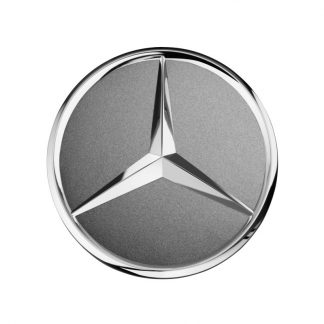 Mercedes-Benz Radnabendeckel himalaya grau matt, Stern erhaben