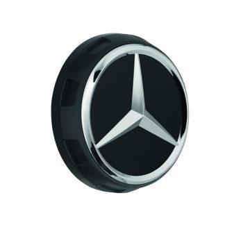 Mercedes-Benz Radnabenabdeckung schwarz matt, Stern erhaben