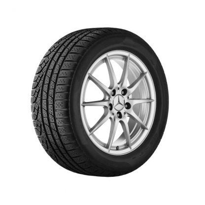 Mercedes-Benz 5-Doppelspeichen-Felge, A-Klasse, B-Klasse, CLA, 17 Zoll