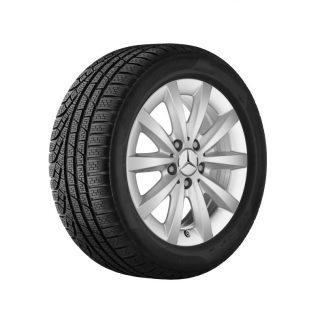 Mercedes-Benz Winterkompletträder Satz, 10-Speichen-Design, titansilber, A-Klasse, B-Klasse, CLA, 16 Zoll