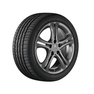 Mercedes-Benz Sommerkompletträder Satz, A-Klasse, B-Klasse, CLA, 17 Zoll, 5-Doppelspeichen Design
