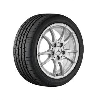 Mercedes-Benz 16 Zoll Sommerkompletträder Satz, W176, W246, C117, X117, 5-Doppelspeichen Design