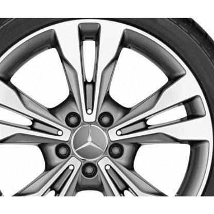 Mercedes-Benz 5-Doppelspeichen-Alufelge, glanzgedreht, Vito, V-Klasse, 447, 18 Zoll
