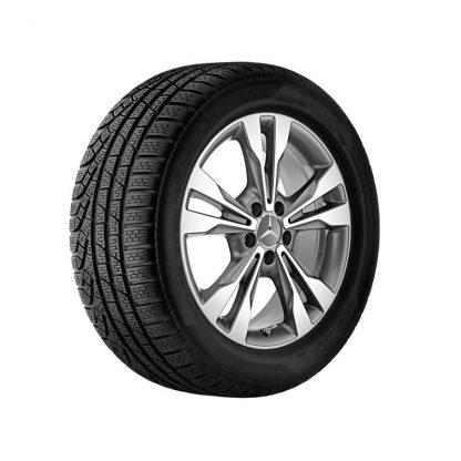 Mercedes-Benz Winterkompletträder Satz, Aktion, 5-Doppelspeichen-Design, glanzgedreht, V-Klasse, Vito, 18 Zoll