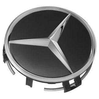 Mercedes-Benz Radnabenabdeckung schwarz, Stern erhaben