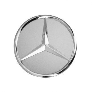 Mercedes-Benz Radnabendeckel titansilber Chromoptik, Stern erhaben