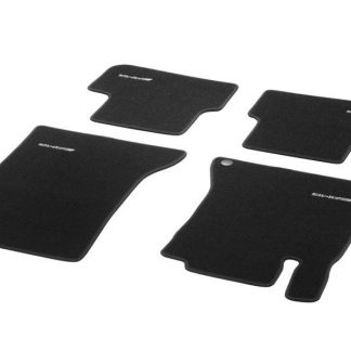 AMG Fußmatten in Kurzschlingenoptik, Satz, 4-teilig, mit gesticktem AMG-Logo, A-Klasse, B-Klasse, CLA, GLA