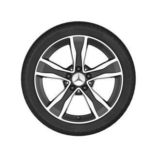 Mercedes-Benz 5-Speichen-Alufelge, glanzgedreht, C-Klasse, 17 Zoll