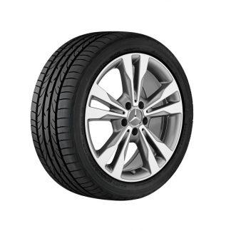 Mercedes-Benz 5-Doppelspeichen-Alufelge, glanzgedreht, C-Klasse, 18 Zoll