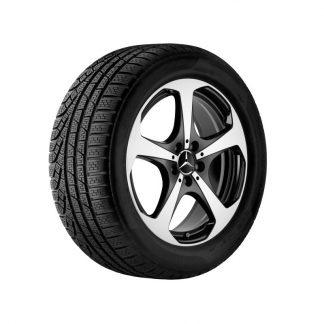 Mecedes-Benz 5-Speichen-Alufelge, glanzgedreht, C-Klasse, 18 Zoll