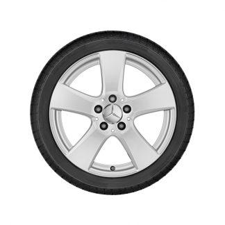 Mercedes-Benz 5-Speichen-Alufelge, C-Klasse, 17 Zoll