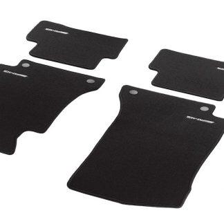 AMG Fußmatten in Kurzschlingenoptik, Satz, 4-teilig, mit gesticktem Logo