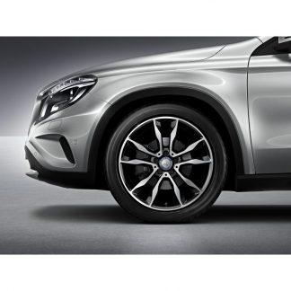 Mercedes-Benz Sommerkompletträder Satz 19 Zoll, GLA X156, 5-Doppelspeichen Design
