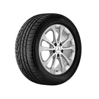 Mercedes-Benz Winter Kompletträder Satz, 5-Doppelspeichen-Design, vanadiumsilber metallic, GLA, 17 Zoll