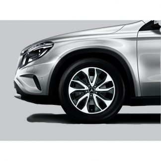 Mercedes-Benz Sommerkompletträder Satz 18 Zoll, GLA X156, 5-Doppelspeichen Design, glanzgedreht