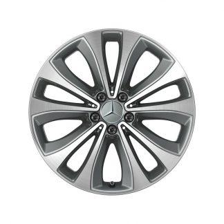 Alufelge Mercedes-Benz GLE V167, 19 Zoll, 5-Doppelspeichen Design, glanzgedreht
