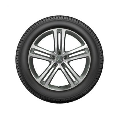Alufelge Mercedes-Benz GLE 2019, 20 Zoll, 5-Doppelspeichen Design, glanzgedreht