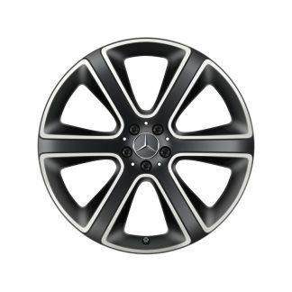 Alufelge Mercedes-Benz GLE 2019, 22 Zoll, 6-Speichen Design, glanzgedreht