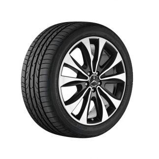 Mercedes-Benz Sommerkompletträder Satz, 20 Zoll, GLE, 10-Speichen Design, glanzgedreht