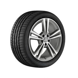 Mercedes-Benz Sommerkompletträder Satz, 5-Doppelspeichen Design, glanzgedreht, C118, W177, W247, 19 Zoll
