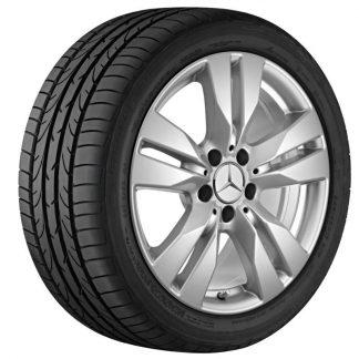Mercedes-Benz Sommerkompletträder Satz, 17 Zoll, E-Klasse Coupé, Cabrio, Mischbereifung, 5-Doppelspeichen Design