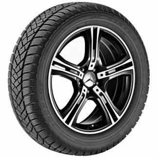 Mercedes-Benz Winterkompletträder Satz, E-Klasse A207, C207, 18 Zoll, 5-Speichen Design, glanzgedreht