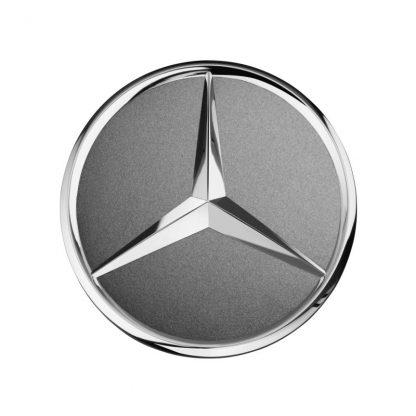 Mercedes-Benz Radnabendeckel grau Himalaya, Stern erhaben
