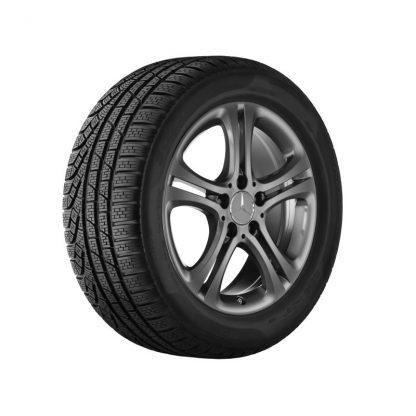 Mercedes-Benz Winterkompletträder Satz, A-Klasse, B-Klasse, CLA, 5-Doppelspeichen-Design, 17 Zoll