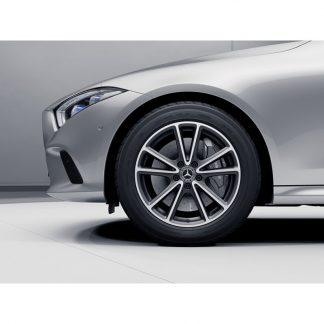 Mercedes-Benz 18 Zoll Sommerkompletträder Satz, CLS C257 Coupé, 5-Doppelspeichen Design,  Mischbereifung