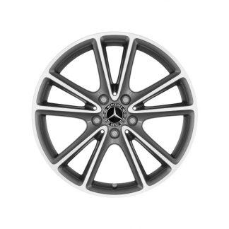 Mercedes-Benz 18 Zoll Alufelge, CLS Coupé C257, 5-Doppelspeichen Design, glanzgedreht
