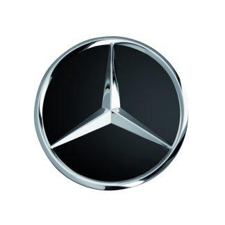 Mercedes-Benz Radnabenabdeckung, Stern erhaben, schwarz, schwarz matt