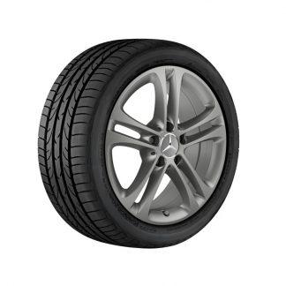 Aktionsset Mercedes-Benz 17 Zoll Sommerkompletträder Satz, A-Klasse, 5-Doppelspeichen Design inkl. SONAX Reifenglanzgel