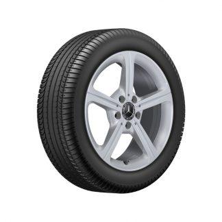 Aktionsset Mercedes-Benz 17 Zoll Sommerkompletträder Satz, B-Klasse, 5-Speichen-Design inkl. Raddeckel