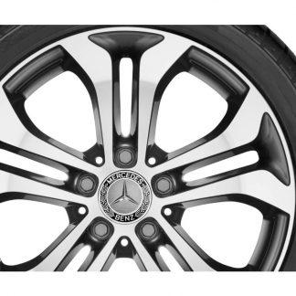 Alufelge 17 Zoll, Mercedes-Benz GLC, 5-Doppelpeichen Design, glanzgedreht