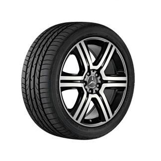 19 Zoll Mercedes-Benz Sommerkompletträder Satz, GLC 6-Speichen Design, glanzgedreht