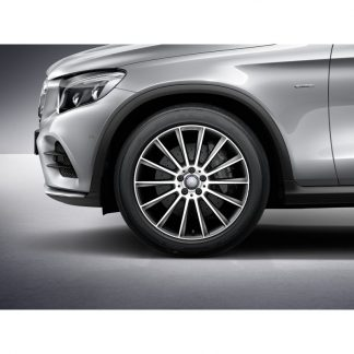 20 Zoll AMG Alufelge, Mercedes GLC, Vielspeichen-Design, glanzgedreht