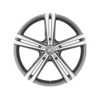 Mercedes-Benz 20 Zoll Alufelge, CLS Coupé C257, 5-Doppelspeichen Design, glanzgedreht, Vorderachse