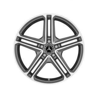 Mercedes-Benz 19 Zoll Alufelge, CLS Coupé C257, 5-Doppelspeichen Design, glanzgedreht