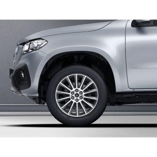19 Zoll Sommerkompletträder Satz, Mercedes X-Klasse, Vielspeichen Design, glanzgedreht